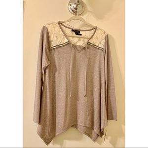 NEW Lace and Knitwear Top
